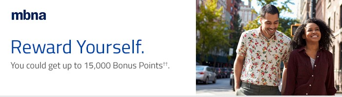 Reward Yourself. You could get up to 15,000 Bonus Points††